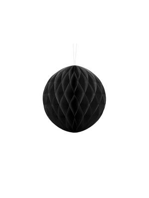 Papīra bumba, melna, 20 cm