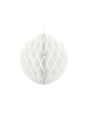 Papīra bumba, balta, 30 cm