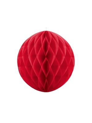 Papīra bumba, sarkana, 40 cm