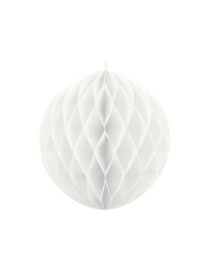 Papīra bumba, balta, 40 cm