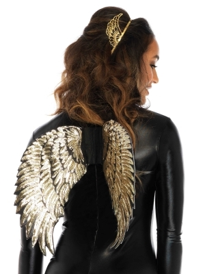 Vizuļojoši zelta spārni