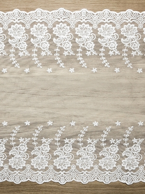 Mežģīne, balta, 0.45 x 9 m