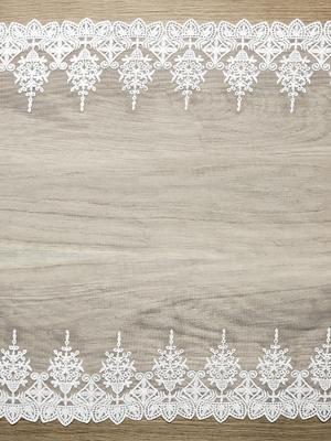 Кружевная лента, белая, 0.45 х 9 м