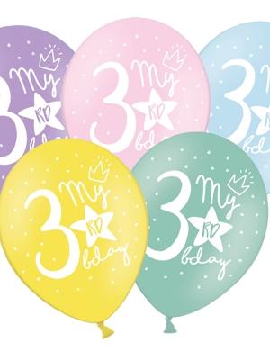 Balons 3 dzimšanas diena, 30 cm