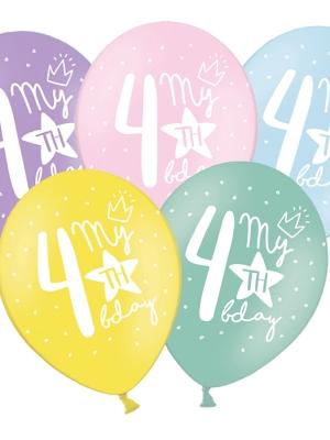 Balons 4 dzimšanas diena, 30 cm