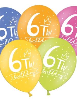 Balons 6 dzimšanas diena, 30 cm
