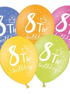 Balons 8 dzimšanas diena, 30 cm