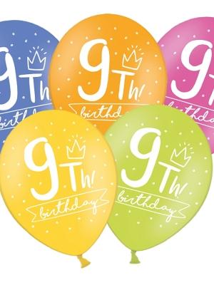 Balons 9 dzimšanas diena, 30 cm