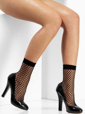 Сетчатые носки, черные