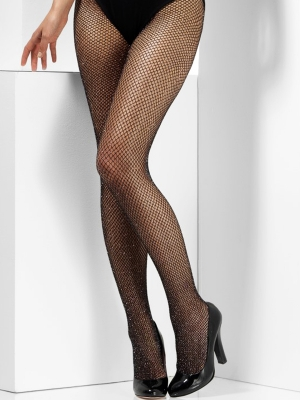 Glitter Fishnet Tights