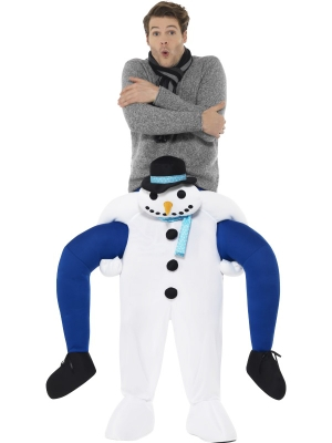 Kostīms - Sniegavīra mugurā