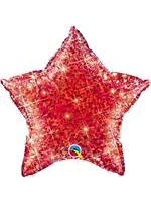 Hologrāfiski sarkana Zvaigzne, 50 cm