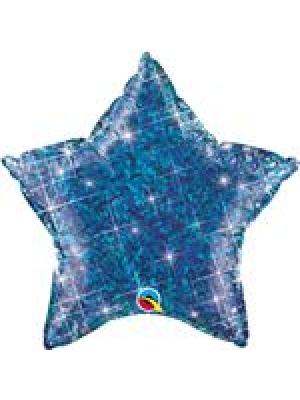 Hologrāfiska zila Zvaigzne, 50 cm