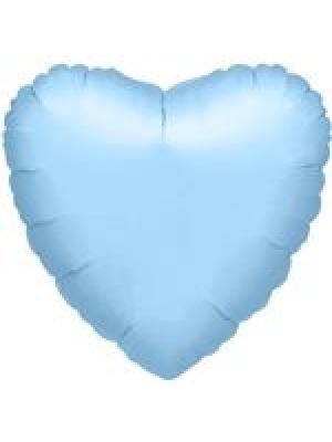 Metāliski pērļu zila Sirds, 81 cm