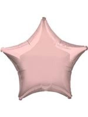 Metāliski pērļu rozā Zvaigzne, 48 cm