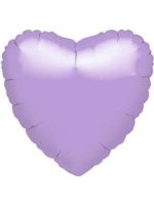 Metāliski maigi lillā Sirds, 45 cm