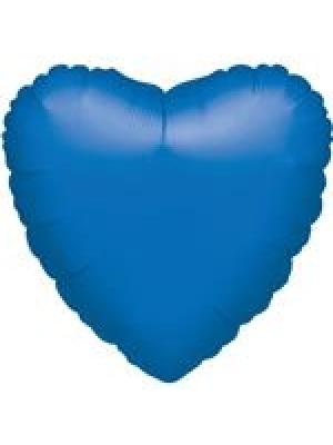 Metāliski zila Sirds, 45 cm