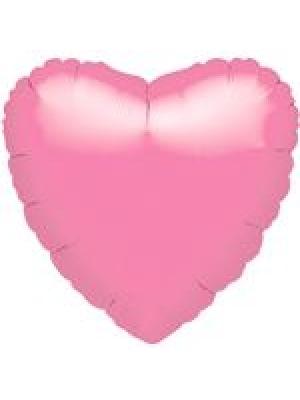 Metāliski rozā Sirds, 45 cm