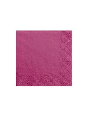 20 gab, Salvetes, tumši rozā, 33x33cm