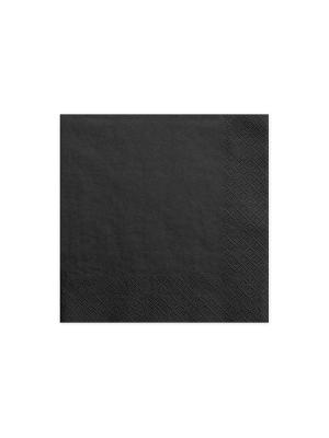 20 gab, Salvetes, melnas, 33 cm x 33 cm