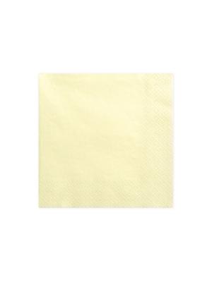 20 gab, Salvetes, gaišā krēmkrāsā, 33 cm
