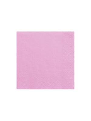 20 gab,  Salvetes, rozā, , 33x33cm