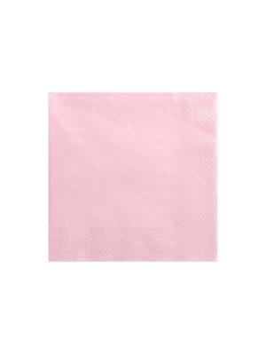 20 gab, Salvetes, gaiši rozā, 33x33 cm