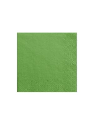 20 gab, Salvetes, zaļas, 33 cm x 33 cm