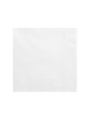 20 gab, Salvetes, baltas, 40 x 40 cm