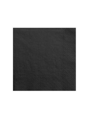 20 gab, Salvetes, melnas, 40 x 40 cm