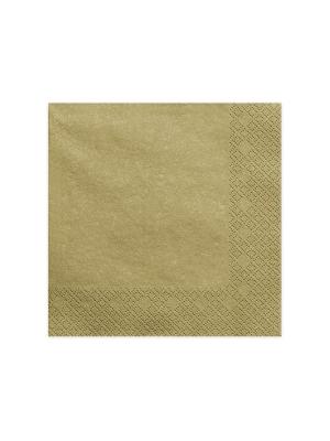 20 gab, Salvetes, zelta, 40 x 40 cm