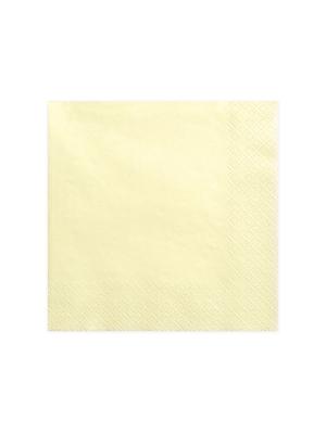 20 gab, Salvetes, gaiša krēmkrāsa, 40 x 40 cm