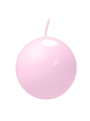 Apaļa svece, lakota, gaiši rozā, 6 cm
