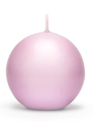 Apaļa svece, matēta, gaiši rozā, 8 cm