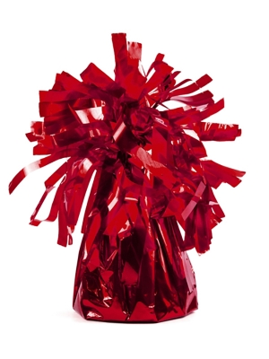 Foil balloon weight, red, 130 gr