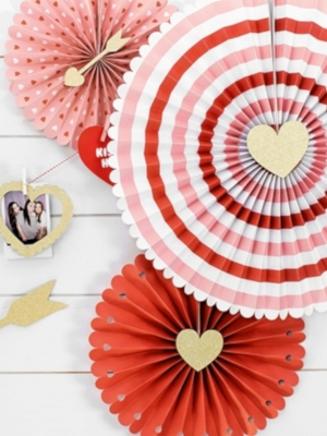 3 pcs, Decorative Rosettes Sweet Love, 21, 25, 38 cm