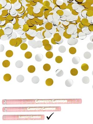 Plaukšķene ar zelta, sudraba apļiem, 40 cm