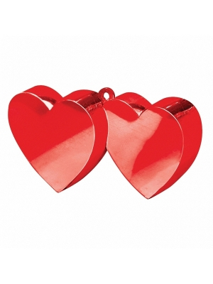 Balloon weight Two Hearts, red, 170 g
