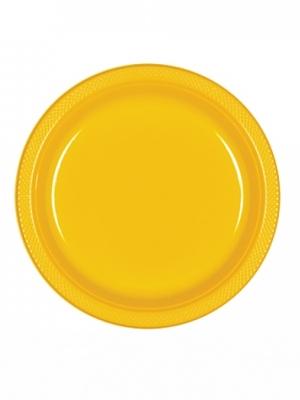 10 gab,  Šķīvīši, dzelteni, 17.7 cm