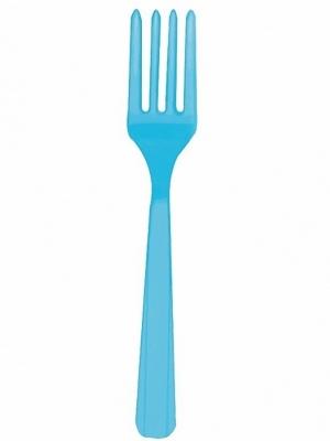 10 gab, Plastmasas dakšas, zilas, 16 cm