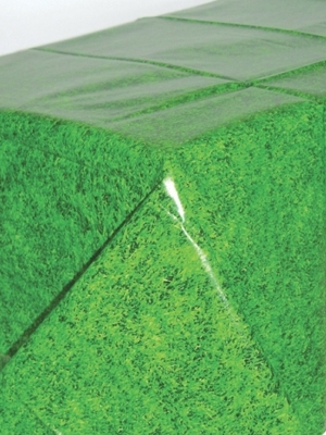 Plastikāta galdauts, zaļa zāle, 137 x 259 cm