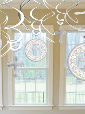 Piekarams dekors Kristībām, balts, 17.7 cm, 12.7 cm