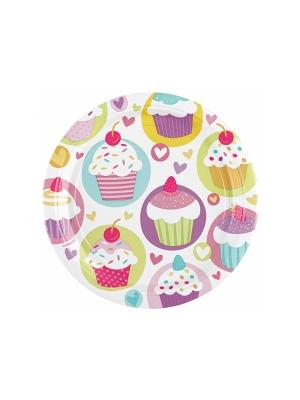 8 pcs, Plates Cupcake, 23 cm