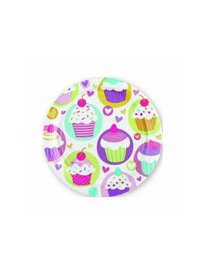 8 pcs, Plates Cupcake, 18 cm