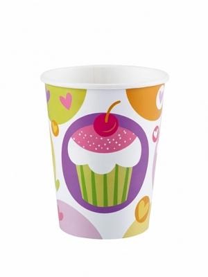 8 pcs, Paper cups Cupcake, 266 ml