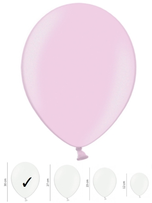 Strong Balloons 30cm, Metallic Candy Pink