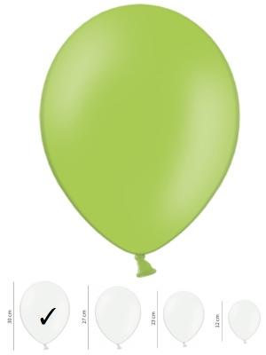 Pasteļtoņu balons, spilgti zaļš, 30 cm