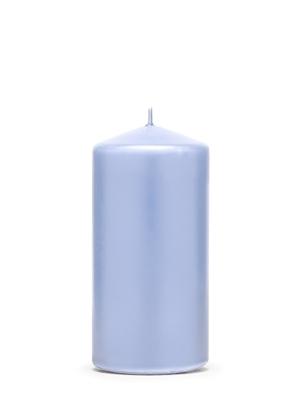 Cilindra svece, matēta, alva, 12 cm x 6 cm