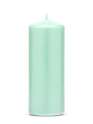 Cilindra svece, matēta, piparmētra, 15 cm х 6 cm