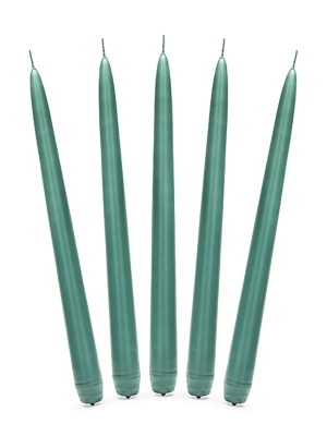 Konusa svece, matēta, zaļā pudele, 24 cm